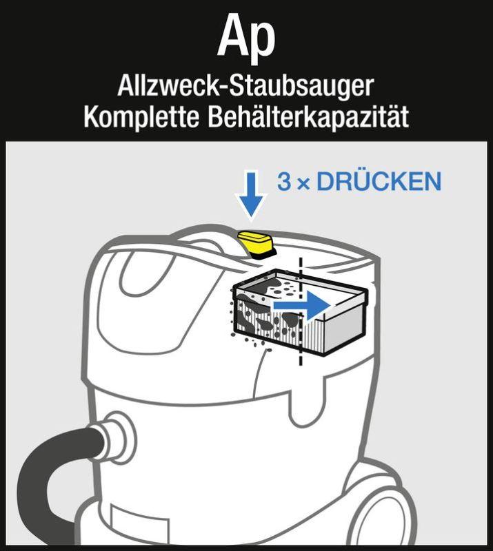 2x STAUBSAUGER FLACHFALTEN FILTER für Kärcher NT 25//1 Ap NT 35//1 Ap